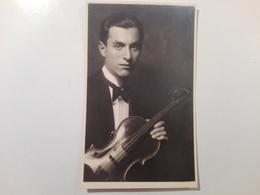 1934 - Foto Di Violinista Con Dedica Al Professore - Dédicacées