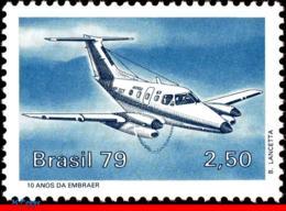 Ref. BR-1624 BRAZIL 1979 PLANES, AVIATION, XINGO, EMB-121 EMBRAER,, MI# 1720, MNH 1V Sc# 1624 - Aerei