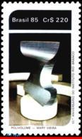 Ref. BR-1982 BRAZIL 1985 EDUCATION, RIO BRANCO INST., 40TH, ANNIV., POLIVOLUME, SCULPTURE, ART, MNH 1V Sc# 1982 - Neufs