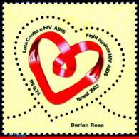 Ref. BR-2906 BRAZIL 2003 HEALTH, FIGHT AGAINST AIDS,, MI# 3338, MNH 1V Sc# 2906 - Ongebruikt