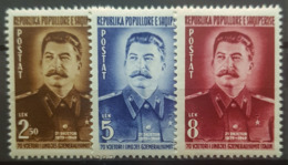 ALBANIA 1949 - MLH - Mi 479-481 - Stalin - Albania