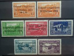 ALBANIA 1924 - MLH - Sc 164-170, Mi 104-110 - Triumf' I Legalitetit - Complete Set! - Albania