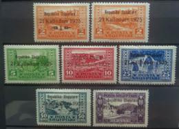 ALBANIA 1925 - MLH - Sc 171-177, Mi 111-117 - 21 Kallnduer 1925 - Complete Set - Albania