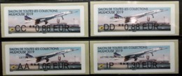 4 Atms, Brother, AA, CC, DD, IP, 50 Ans, De L'aventure Concorde, MULHOUSE 2019, SALON TOUTES COLLECTIONS - 2010-... Illustrated Franking Labels