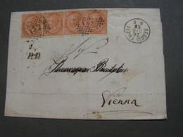 Italien Altbrief 1868 Nach Wien über Venezia Schöne Stempel Rückseite Mit Inhalt - 1861-78 Victor Emmanuel II.