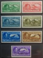 "ALBANIA 1931 - MLH - Sc# C36-C42, Mi 252-260 - Air Mail ""Tirane-Rome"" - Complete Set! - Albanie"