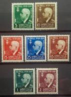 ALBANIA 1942 - MNH/MLH - Mi 322-328 - Victor Emmanuel - Albania