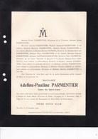 PUERTO De SANTA MARIA CADIX Adeline PARMENTIER Dame Du SACRE-COEUR 72 Ans 1908 Famille KERCKX ORBAN De XIVRY - Esquela