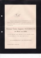 FRANCFORT ANVERS Marie Von BIHL Veuve Auguste OSTERRIETH 76 Ans 1895 - Esquela