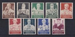 Deutsches Reich 1934 Nothilfe Berufsstände Mi-Nr 556-564 Satz 9 Werte * - Deutschland