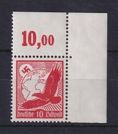 Deutsches Reich 1934 Flugpost 10 Pfg Mi.-Nr. 530x Eckrandstück OR Postfrisch **  - Deutschland