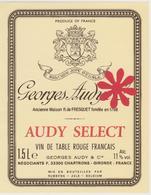 Georges Audye - Vin De Table Rouge / Gironde France - Etiquettes