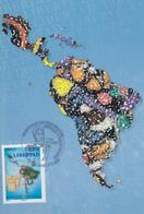 Carte Maximum  1er   Jour  FRANCE   Anniversaire   Indépendances  AMERIQUE  LATINE  Et  CARAÏBES  BOULOGNE SUR MER  2010 - Cartes-Maximum
