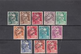 France - 1922-47 - Préobl. - 94**à 104**  - Type Marianne De Gandon - Preobliterati