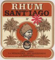 Rhum Sant'iago G. Baekelandt Ingelmunster / Likeurstokerij - 30° Kortrijk Belgique. - Rhum