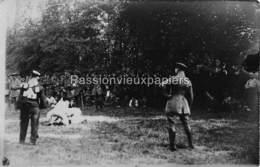 CARTE PHOTO ALLEMANDE LALLAING 1918 PFINGSTFEST RINGER (Lutteurs) - Frankrijk