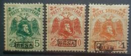 ALBANIA 1922 - MLH - Sc# 154, 156, 157 - Albania