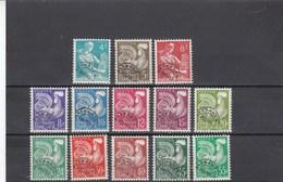France - 1953-59 - Préobl. - N°YT 106**à 118** - Moissonneuse & Coq Gaulois - Preobliterati