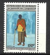 DJIBOUTI  1994 VILLAGE LEADERS COSTUME  MNH - Djibouti (1977-...)