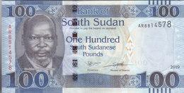 SOUTH SUDAN 100 POUNDS 2018 2019 P-15 UNC - South Sudan