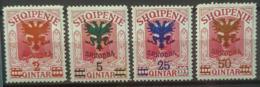 ALBANIA 1920 - MLH - Sc# 125-128 - Albania