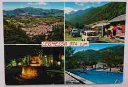 LEONESSA (RIETI) - Multiview - Auto Fiat 650 - Piscina, Fontana - Albergo Hotel La TORRE -  Vg L2 - Rieti