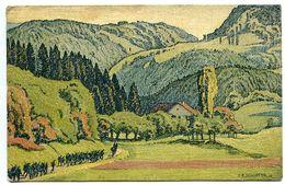 CPA 1915 Arts Graphiques Fretz * SUISSE Vallée Du Jura Près De FONTENAIS ( Colonne De Soldats ) Voyagé - JU Jura