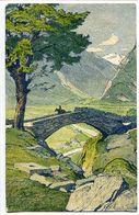 CPA 1916 Arts Graphiques Fretz * SUISSE Ponte Nel Ticino Settentrionale (cavalier Sur Pont) Voyagé - TI Ticino