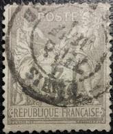 France N°87 Sage 3c. Gris. Oblitéré CàD Paris - 1876-1898 Sage (Type II)