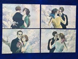 """6 Cpa--""""Couples Amoureux""""-Tito Corbella (my Ref TC5) - Corbella, T."""