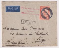 CDS14101 Belgium Congo 1937 SABENA Air Mail Accident Cover Addressed Liege Via Oran - Belgium
