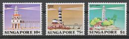 Singapore 1982 Mi# 403-05* LIGHTHOUSES - Singapore (1959-...)