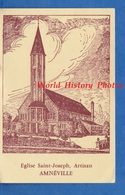 Image Religieuse - AMNEVILLE , église Saint Joseph Artisan - Confirmation - Mgr P-J. SCHMITT Eveque De Metz - 1966 - Devotieprenten