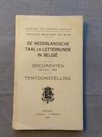 Koninklijke Bibliotheek Van Belgie; De Nederlandse Taal En Letterkunde In Belgie, Catalogus Tentoonstelling 1936. - Geschiedenis