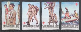 Singapore 1982 Mi# 410-13** SCOUTING YEAR - Singapur (1959-...)