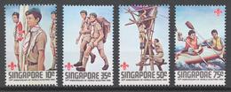 Singapore 1982 Mi# 410-13** SCOUTING YEAR - Singapore (1959-...)
