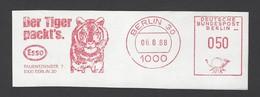 BRD AFS - BERLIN, Der Tiger Packt`s. ESSO 1988 - Félins