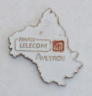 Pin's FRANCE TELECOM AVEYRON A - Telecom Francesi