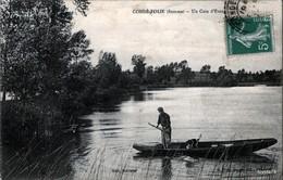 Condé-Folie (Somme) Un Coin D'Etang - ANIMÉE [ Barque - Chasseur Et Son Chien ] - TRÈS RARE !!! - Otros Municipios