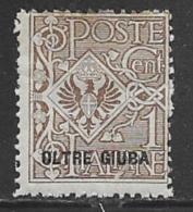 Oltre Giuba Scott # 1 Mint Hinged Italy Stamp Overprinted, 1925 - Oltre Giuba