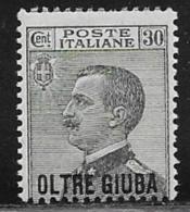 Oltre Giuba Scott # 17 MNH Italy Stamp Overprinted, 1925 - Oltre Giuba