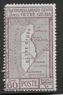 Oltre Giuba Scott # 33 Mint Hinged Map, 1926 Round Corner - Oltre Giuba