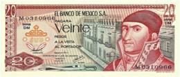 Mexico - 20 Pesos - 08.07.1977 - Unc. - Pick 64.d -  Serie DM - J. Morelos Y Pavon - Mexico