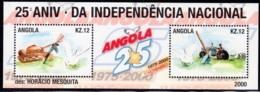 Angola, Scott 2019 No. 1184, Issued 2001, S/S Of 2, MNH, Cat. $5.00, Independence - Angola