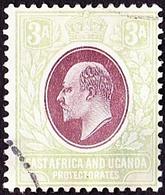 EAST AFRICA & UGANDA 1904 KEDVII 3a Brown-Purple & Green SG22 Fine Used - Kenya, Uganda & Tanganyika
