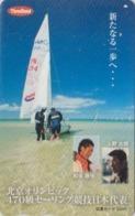 Carte Prépayée Japon - BATEAU VOILIER - SAILING SHIP ** OLYMPIC THREEBOND ** - Japan Prepaid Tosho Card - SCHIFF - 198 - Boats