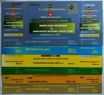 126. BANGLADESH 1999 SET/6 UNUSED TICKETS CHARITY FOOTBALL MATCH - Deportes