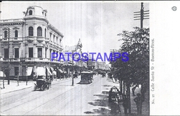 125173 ARGENTINA BUENOS AIRES STREET CALLE SANTA FE TRANVIA TRAMWAY POSTAL POSTCARD - Argentinien