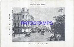 125175 ARGENTINA BUENOS AIRES STREET CALLE SANTA FE TRANVIA TRAMWAY  POSTAL POSTCARD - Argentinien