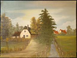 Oil Painting Farm/ Olieverf Schilderij Boerderij - Olieverf